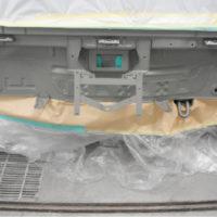 バックパネル防錆塗装後。